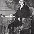 Portrait Of Thomas Jefferson by Alonzo Chappel