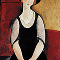 Portrait Of Thora Klinchlowstrom by Amedeo Modigliani