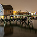 Portsmouth Harbor Night 2 by Phillip McNeil