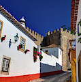 Portugal, Obidos, Street Of The Old by Terry Eggers
