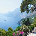 Positano Italy Amalfi Coast Delight by Irina Sztukowski