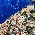 Positano Town In Italy by George Atsametakis