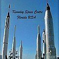 Post Card Of The Kennedy Space Centre Florida by John Malone