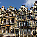 Postcard From Brussels - Grand Place Elegant Facades by Georgia Mizuleva