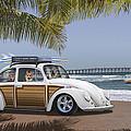 Postcards From Otis - Beach Corgis by Mike McGlothlen