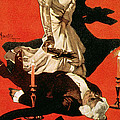 Poster Advertising A Performance Of Tosca by Adolfo Hohenstein