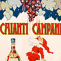 Poster Advertising Chianti Campani by Necchi