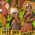 Poster Advertising F?te Des Costumes by Jules Courvoisier