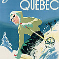 Poster Advertising Skiing Holidays In The Province Of Quebec by Canadian School