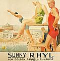 Poster Advertising Sunny Rhyl  by Septimus Edwin Scott