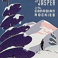 Poster Advertising The Canadian Ski Resort Jasper by Canadian School