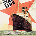 Poster Advertising The Red Star Line by Belgian School