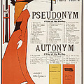 Poster For 'the Pseudonym And Autonym Libraries' by Aubrey Beardsley