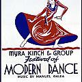 Poster Modern Dance Festival by Elaine Plesser