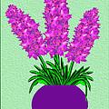 Pot Of Pink Flowers by Pat Follett