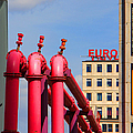 Potsdamer Platz Pink Pipes In Berlin by Ben and Raisa Gertsberg