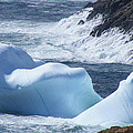 Pounding Surf With Icebergs by Barbara Griffin