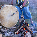 Pow Wow 58 Tuning The Drum by Keith R Crowley