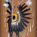 Pow Wow Regalia - Orange by Glenn Aker