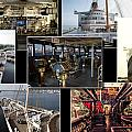 Power Collage Queen Mary Ocean Liner Long Beach Ca 01 by Thomas Woolworth