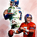 Power Force John Elway by Iconic Images Art Gallery David Pucciarelli