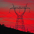 Power Lines Just After Sunset by Tom Janca