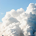 Power Station Plumes. by Jan Brons
