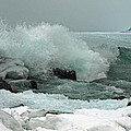Powerful Winter Surf by James Peterson