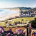 Powerhouse Beach Del Mar Lilac by Mary Helmreich