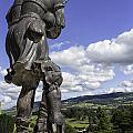 Powis Castle Bagpipper by Fran Gallogly