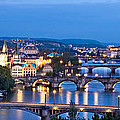 Prague Cityscape Panorama by Barry O Carroll