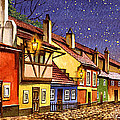 Prague Golden Line Street  by Dmitry Koptevskiy
