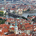 Prague - View From Castle Tower - 10 by Gregory Dyer
