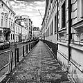 Praha Sidewalk  by John Rizzuto