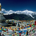 Prayer Flags In The Himalayan Mountains by James Brunker