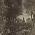Prayer Of Jesus In The Garden Of Olives by Antique Engravings