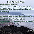 Prayer Of St Francis Of Assisi by Sharon Elliott