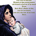 Prayer To Virgin Mary 3 by A Samuel