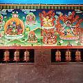 Prayer Wheels And Paintings by Pema Hou