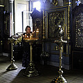 Praying At The Convent - Moscow - Russia by Madeline Ellis