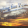 Praying For Peace by Ola Allen