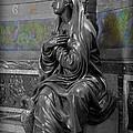 Praying Statue In Chantilly by Maj Seda