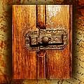 Pre-civil War Bookcase-glass Doors Latch by Ellen Cannon