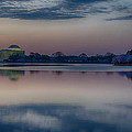 Pre-dawn At The Jefferson Memorial  by Leah Palmer