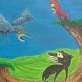 Prehistoric Pets by JoNeL Art