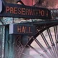 Preservation Hall Sign by Liz Tomlinson