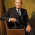 President Dwight D. Eisenhower By J. Anthony Wills by Movie Poster Prints