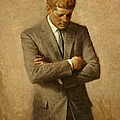 President John F. Kennedy Official Portrait By Aaron Shikler by Movie Poster Prints