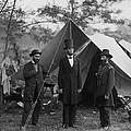 President Lincoln At Antietam by Alexander Gardner