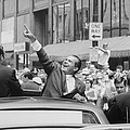 President Nixon Pointing At The Crowd by Everett